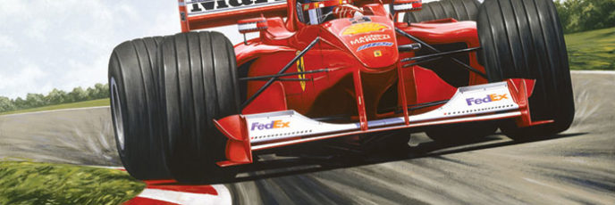 Michael Schumacher's Ferrari F1 2000 on track