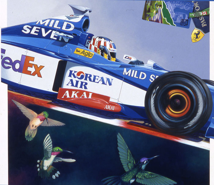 Alexander Wurz Benetton & Hummingbirds