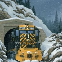 D&RGW Engine Exits Tunnel