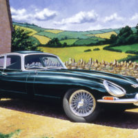 1962 Jaguar E-Type in English setting