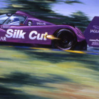 Purple Silk Cut - Jaguar at Le Mans 1995