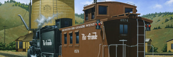 Rio Grande Caboose at Sargents Water Tank