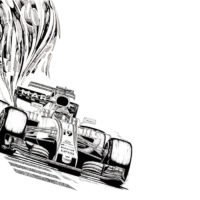 Drawing of Felipe Massa - Williams FW40 2017